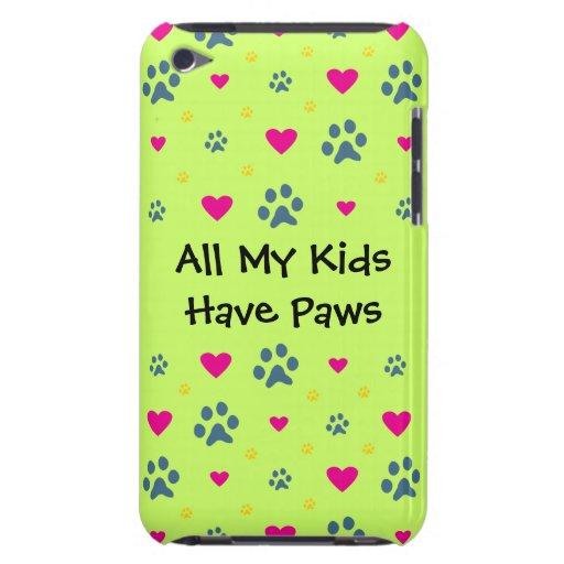 Todos mis Niño-Niños tienen patas iPod Touch Case-Mate Funda