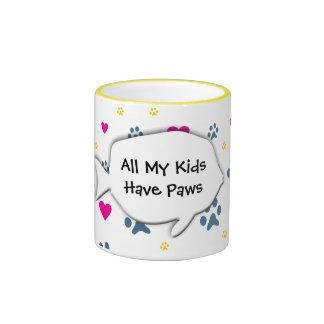 Todos mis Niño-Niños tienen patas Taza