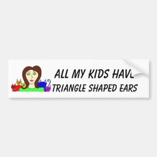 Todos mis oídos formados HaveTriangle de los niños Pegatina De Parachoque
