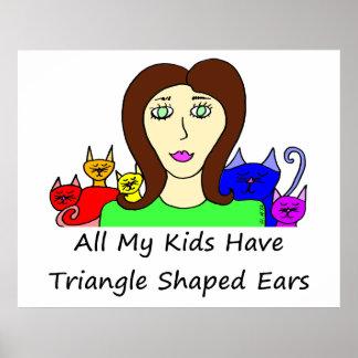 Todos mis oídos formados HaveTriangle de los niños Impresiones