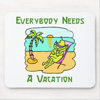 Todos necesita vacaciones Mousepad Alfombrilla De Ratón
