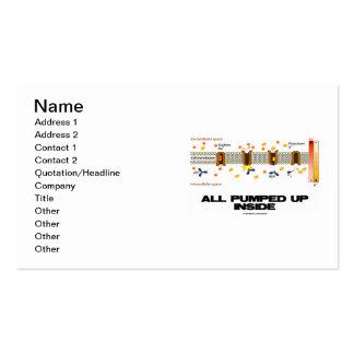 Todos para arriba bombeado interior (bomba de tarjetas de visita