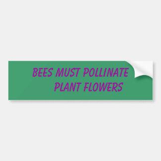 Todos para las abejas pegatina para auto