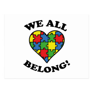 Todos pertenecemos - conciencia del autismo postal
