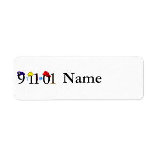 Todos que fueron perdidas 9-11-01 etiquetas de remite