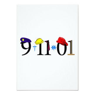 """Todos que fueron perdidas 9-11-01 invitación 5"""" x 7"""""""