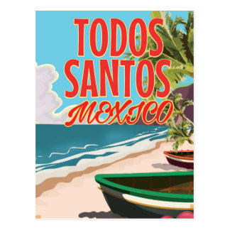 Todos Santos Mexico travel poster Postcard