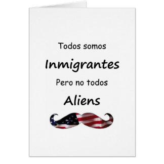 Todos Somos Inmigrantes Tarjeta