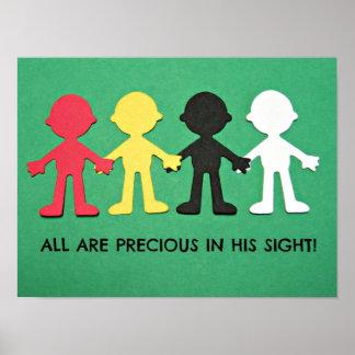 Todos son preciosos en su vista posters