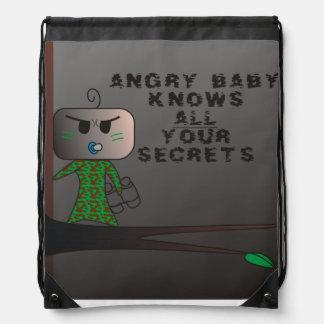 Todos sus secretos Stringbag - diseño enojado de