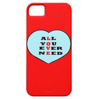 Todos usted necesita nunca amor, en un corazón, iPhone 5 fundas
