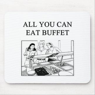 todos usted puede comer la comida fría alfombrilla de ratones