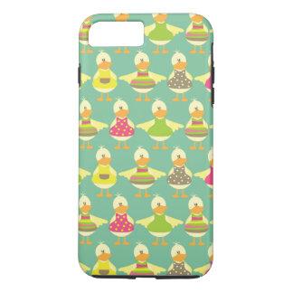 todos vistieron para arriba patos lindos en una funda iPhone 7 plus