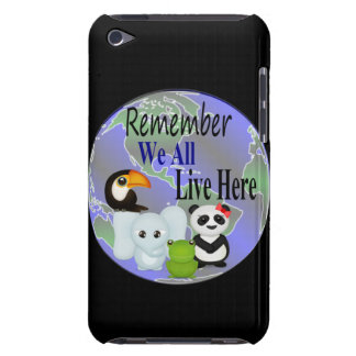Todos vivimos aquí los animales del mundo iPod touch Case-Mate fundas