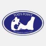 Tod's Point Oval Sticker