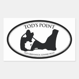 Tod's Point Rectangular Sticker