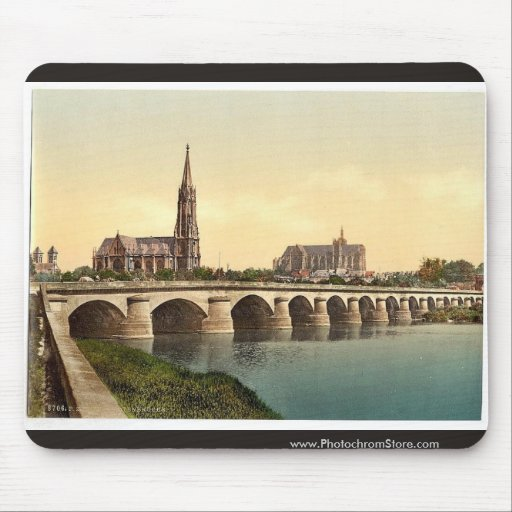 Todtenbrucke, Metz, Alsace Lorraine, Germany class Mouse Pad