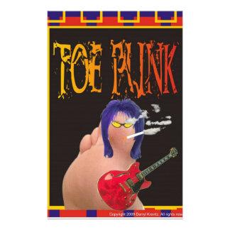 Toe punk stationery design