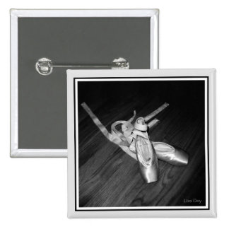 'Toe Shoes' Square Pin (B&W)