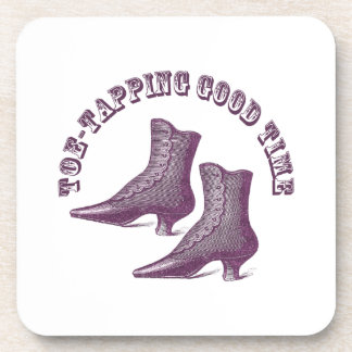 Toe-Tapping Good Time Dancing Victorian Boots Coaster