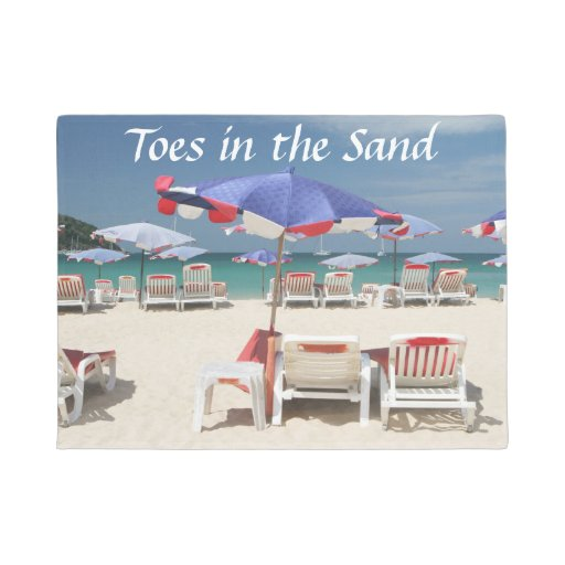 Toes in the Sand Doormat