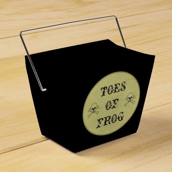 Toes Of Frog Label Halloween Potions Witch's Brew Favor Box
