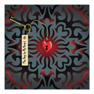 * Toffee Apple Heart - The Key to my Heart Card