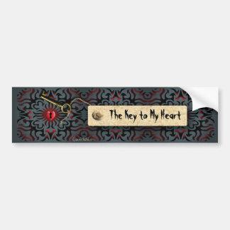 Toffee Apple Heart - Valentine Gift Bumper Sticker