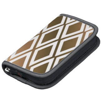 Toffee Brown and White Diamonds Organizers