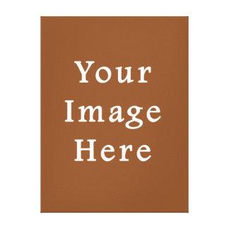 Toffee Brown Color Trend Blank Template Canvas Print