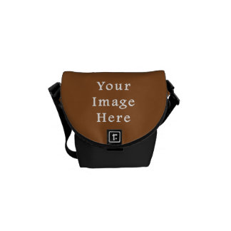Toffee Brown Color Trend Blank Template Messenger Bag