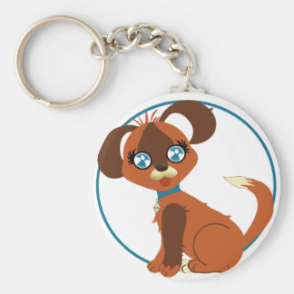 Toffee Toon Pup Keychain