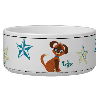 Toffee Toon Puppy Stars Dog Bowl