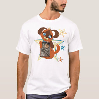Toffee Toon Puppy Stars Frame T-Shirt