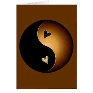toffee yin yang card