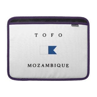 Tofo Mozambique Africa Alpha Dive Flag MacBook Air Sleeve