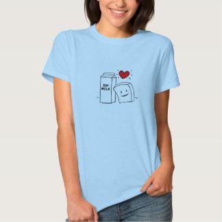 """""""Tofu Love"""" Woman's Baby Doll Tshirt"""
