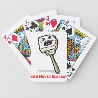 Tofu Never Screams Bicycle Playing Cards