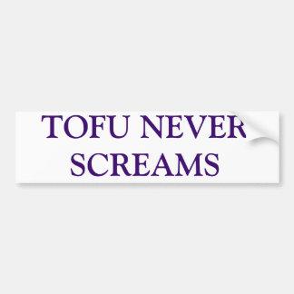 TOFU NEVER SCREAMS CAR BUMPER STICKER