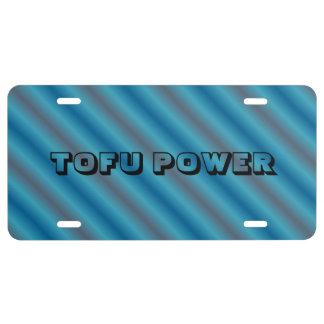 Tofu Power License Plate