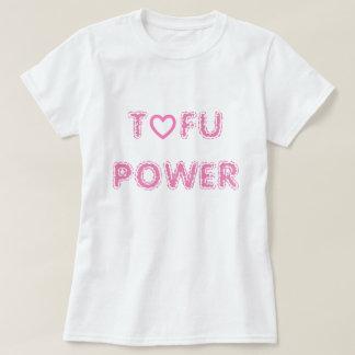 TOFU POWER White basic T-shirt