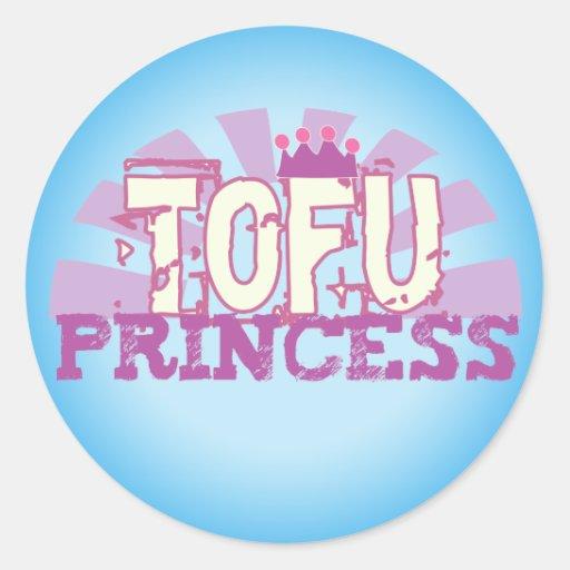 Tofu Princess Classic Round Sticker