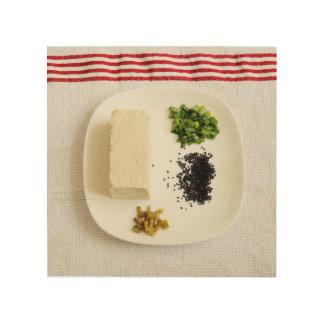Tofu Salad Wood Print