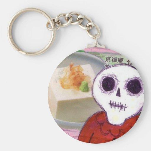 tofu skull vegetarian Keychain