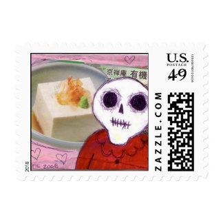 tofu skull vegetarian Postage Stamp