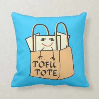 TOFU TOTE for Vegetarians and Vegans Throw Pillow