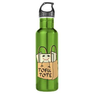 TOFU TOTE Tote Bag for Vegetarians and Vegans 24oz Water Bottle