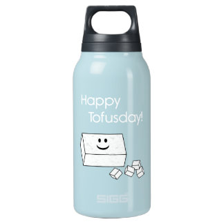 Tofusday feliz botella isotérmica de agua
