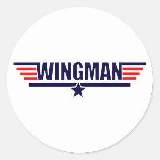 Tog Gun Wingman Classic Round Sticker
