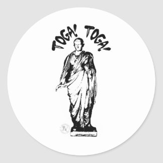 Toga Party (personalize me!) Classic Round Sticker